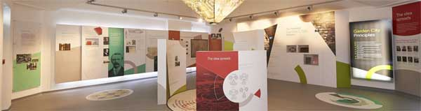 Image of an exhibition at Letchworth Garden City
